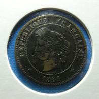 France 5 Centimes 1881 A - C. 5 Céntimos