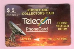 New Zealand - Private Overprint - 1993 Phonecard Collectors' Fair $5 - VFU - NZ-PO-29 - Nuova Zelanda