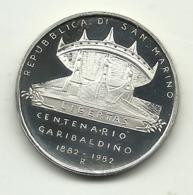 1982 - San Marino 500 Lire Argento - Garibaldi - Saint-Marin