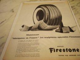 ANCIENNE PUBLICITE FABRIQUE EN FRANCE PNEU FIRESTONE 1961 - Other
