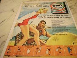 ANCIENNE PUBLICITE BRAVO  OMO 1961 - Vintage Clothes & Linen