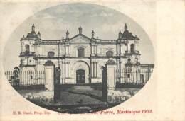 Martinique 1902 - Une Eglise De Saint-Pierre - Martinique