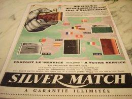 ANCIENNE PUBLICITE HAUTE PUISSANCE BRIQUET SILVER MATCH 1961 - Raucherutensilien (ausser Tabak)
