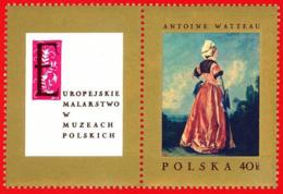 Polonia. Poland. 1967. Mi 1809. Antoine Watteau. Polish Woman - Arte
