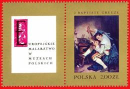 Polonia. Poland. 1967. Mi 1811. J. Baptiste Greuze. Guitarist After The Hunt - Arte
