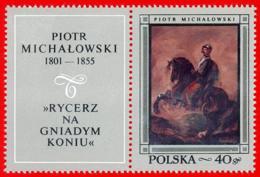 Polonia. Poland. 1968. Mi 1864. Polish Paintings. Knight On Bay Horse, By Piotr Michalowski - Arte