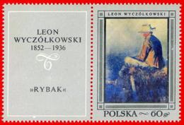 Polonia. Poland. 1968. Mi 1865. Polish Paintings. Fisherman, By Leon Wyczolkowski. - Arte