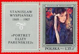Polonia. Poland. 1968. Mi 1867. Polish Paintings. Eliza Parenska, By Stanislaw Wyspianski - Arte