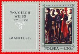 Polonia. Poland. 1968. Mi 1868. Polish Paintings. Manifest, By Wojciech Weiss - Arte
