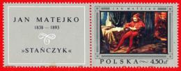Polonia. Poland. 1968. Mi 1869. Polish Paintings. Stancyk (Jester), By Jan Matejko - Arte