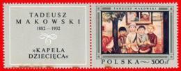 Polonia. Poland. 1968. Mi 18709. Polish Paintings. Children's Band,  By Tadeusz Makowski - Arte