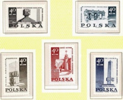 Polonia. Poland. 1968. Mi 1885 / 89. Martyrdom & Fight Of The Polish People, 1939-45. World War II - 1944-.... Republik