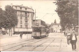 NOGENT-SUR-MARNE (94) La Place Félix Faure (Superbe Plan De Tram) - Nogent Sur Marne