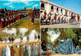 Lot N° 98 De 100 CPSM Et CPM Du Maroc - Villes, Villages, Ksar, Atlas, Garde Royale, Fantasia, Petites Animations - Cartes Postales