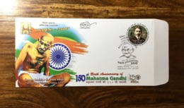 Gandhi Special Cover India Ghandi Gandi Nobel People - Mahatma Gandhi