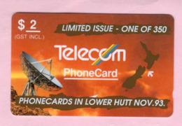 New Zealand - Private Overprint - 1993 Phonecards In Lower Hutt $2 - VFU - NZ-PO-33 - Nuova Zelanda