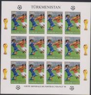 Soccer World Cup 1998 - Football - Turkmenistan - Sheet Imperf. MNH - Fußball-Weltmeisterschaft