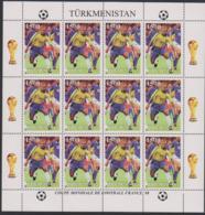 Soccer World Cup 1998 - Football - Turkmenistan - Sheet Perf. MNH - Fußball-Weltmeisterschaft