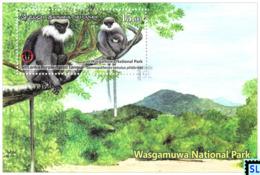 Sri Lanka Stamps 2019, Wasgamuwa National Park, Monkeys, Monkey, MS - Sri Lanka (Ceylon) (1948-...)