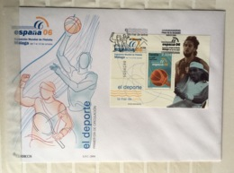 Spain 2006 FDC First Day Cover Basketball Tennis Pau Gasol Rafa Nadal - 1931-Oggi: 2. Rep. - ... Juan Carlos I