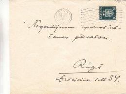Lettonie - Lettre De 1940 ° - Oblit Riga - Exp Vers Riga - Armoiries - Lettonie
