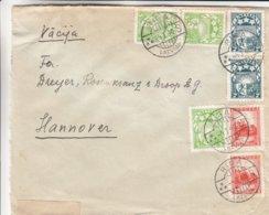 Lettonie - Lettre Recom De 1940 ° - Oblit Riga - Exp Vers Hannover - Armoiries - Avec Censure - Lettonie
