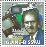 Guinea Bissau Philo Taylon Fransworth Television Inventor 1v Stamp MNH Michel:4141 - Famous People