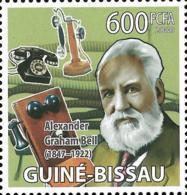 Guinea Bissau Alexander Graham Bell Telephone Inventor 1v Stamp MNH Michel:4140 - Famous People