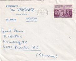ITALIE 1967 LETTRE DE LAIGUEGLIA  PENSIONE DA VERONESE - 1961-70: Storia Postale