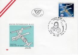 FDC - Austro MIR 1.Österreicher Im All - 8010 Graz 1991 Ersttag - FDC