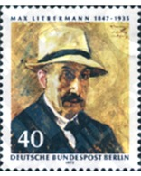 Ref. 131065 * MNH * - GERMANY. Berlin. 1972. 125th ANNIVERSARY OF THE BIRTH OF THE PAINTER AND DESIGNER LIEBERMANN . 125 - Textiles