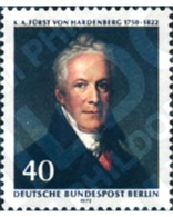 Ref. 131071 * MNH * - GERMANY. Berlin. 1972. 150th ANNIVERSARY OF THE DEATH OF KARL AUGUST, PRINCE OF HARDENBERG, CHANCE - Sin Clasificación