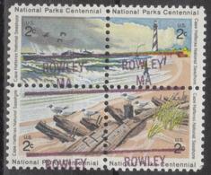 USA Precancel Vorausentwertung Preo, Locals Massachusetts, Rowley 841, Hatteras Block - Voorafgestempeld