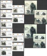XX245 !!! IMPERFORATE, PERFORATE 2012 BURUNDI PRIMATES GORILLAS GORILLES !!! 2KB+2BL+10 LUX BL MNH - Gorilles