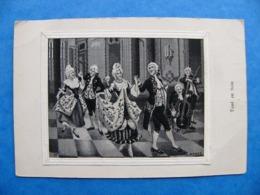 """Carte Tissée Sur Soie """"le Menuet"""" Signée A.Perez - Embroidered"""