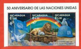 Nicaragua 1995.50 Years Of UN. Unused Stamps. - Felinos