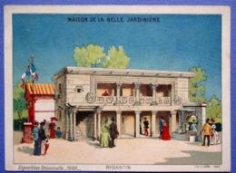 CHROMO GRAND FORMAT ..LA BELLE JARDINIÈRE....LITH. SIGARD....EXPOSITION UNIVERSELLE 1889....BYSANTIN - Chromos