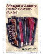 Ref. 318093 * MNH * - ANDORRA. Spanish Adm.. 2014. EUROPA CEPT 2014 - INSTRUMENTOS MUSICALES - Unclassified