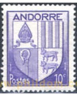 Ref. 250036 * MNH * - ANDORRA. French Adm.. 1944. COATS OF ARMS . ESCUDOS - French Andorra