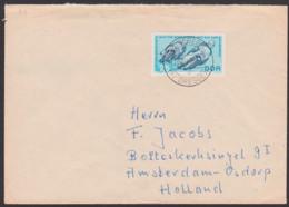 Germany Motorradrennen 250-qcm-Klasse Sachsenring WM 1963 DDR 974 25 Pfg. Auslandsbrief Nach Amsterdam, Radeberg - Motorbikes
