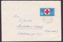 Germany Gegen Malaria Rotes Kreuz Äskalubstab DDR 943 25 Pfg. Auslandsbrief Nach Amsterdam, Aus Wolfen Kr. Bitterfeld - First Aid