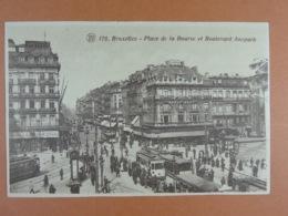 Bruxelles Place De La Bourse Et Boulevard Anspach - Avenues, Boulevards