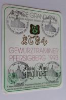 Etiquette Neuve  Alsace  Gewurztraminer 1993 Pfersigberg - Gewurztraminer