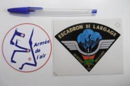 """Autocollant Stickers - Militaire ARMÉE DE L'AIR : 1er ESCADRON DE LARGAGE - Devise """"Au-dessus Des Meilleurs"""" Lot De 2 - Adesivi"""