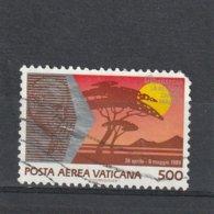 Vatican Oblitéré  1990 Poste Aérienne N° 90  Voyages De Jean-Paul II Dans Le Mobde - Airmail