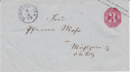 Württemberg Ganzsache U 20 K1 Beimerstetten N Mühlheim A Bach 1873 R - Wuerttemberg