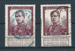 RR: 122 Oblitération Télégraphe En Bleue De WAASTEN - WARNETON - 1912 Pellens