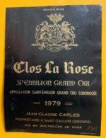 11826 - Clos La Rose 1979 Saint-Emilion - Bordeaux