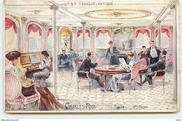 N°12403 - Compagnie Générale Transatlantique - Charles Roux - Salon 1er Classe - Paquebots