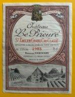 11828 - Château Le Prieuré 1983 Siant-Emilion - Bordeaux